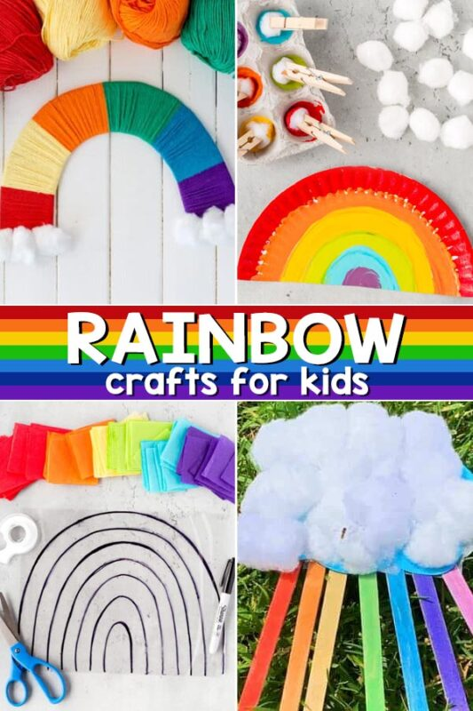 Nothing says spring like rainbows! Celebrate beautiful rainbows for kids with these fun engaging rainbow projects for kids of all ages from toddler, preschool, pre-k, kindergarten, first grade, 2nd grade, and 3rd graders too! We have pretty rainbow crafts for kids, rainbow printables, rainbow science, and rainbow activities too! Use these as a springboard for arainbow theme or teaching children about colors and color mixing too!