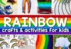 ? Celebrate beautiful rainbows for kids with pretty rainbow crafts for kids, rainbow printables, rainbow science, and rainbow activities perfect for spring