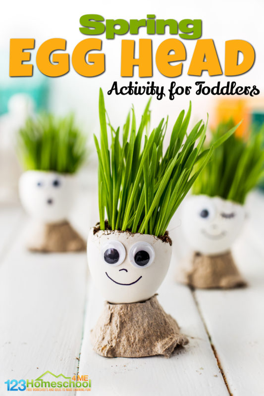 Thiscraft using egg shellis a fun simplesummer craft for kids that uses things you have laying around your house. Kids will love giving theiregg head craft personality, watching their hair grow, and giving theiregg craft a haircut! Thisdiy chia pet is perfect for toddlers, preschoolers, kindergartners, grade 1, and grade 2 students! Plus thisspring activities for preschoolers science is the perfect addition to aplanting seeds with preschoolers activity for your plants and seeds lesson plan!