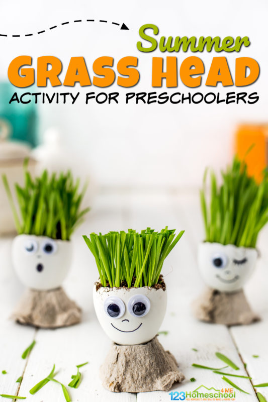If you are looking for a fun unique activity using eggs, you will love this sillyegg head craft. This egg shell diy chia pet is cute, simple and silly spring activities for kids. Thisegg shell craft is fun for toddler, prsechool, pre-k, kindergarten, first grade, and 2nd graders too!