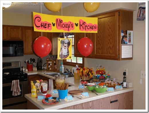 Chef Mickey's Kitchen for Birthday Party Themes