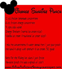 sunrise punch recipe