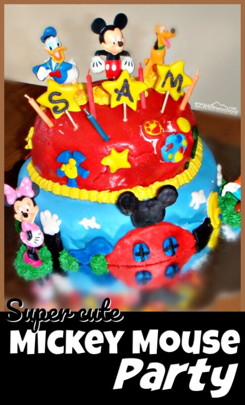 Mickey Mouse Party - super cute and simple party theme for boys and girls including food ideas, decorations and mickey mouse games #birthday #mickeymouse #birthdayparty