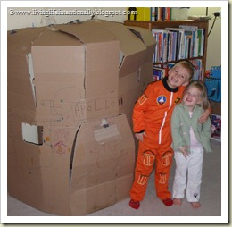 apollo space ship out of a cardboard box