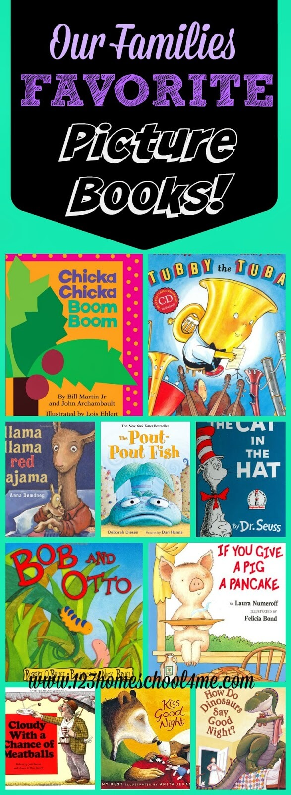 Our Families Favorite Picture Books! With so many books out there it can be really hard to find the BEST picture books for kids. Here is a list of our family favorite books - we own a copy of each and every one of these!