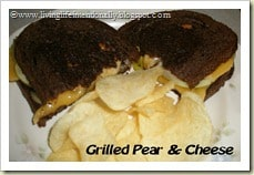 Grilled Pear and Cheese