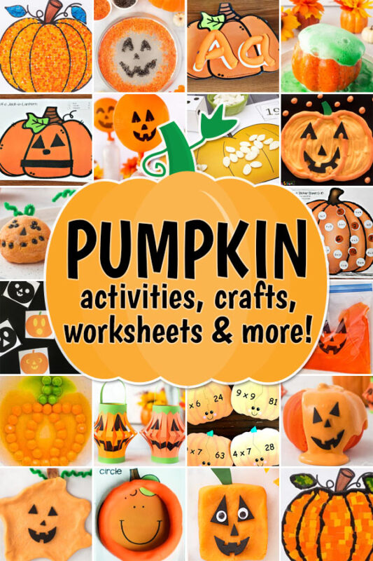 Can you believe it is October already? Whether this month snuck up on you or you have some fun plans already in the works - we have LOTs of fun ideas to add to your plans. From pumpkin crafts and halloween crafts to pumpkin activities and halloween activities. We also have lots of pumpkin worksheets, halloween games, pumpkin science experiments, and halloween science experiments too! These October activities for kids are perfect for all ages from preschool, pre-k, kindergarten, first grade, 2nd grade, 3rd grade, 4th grade, 5th grad,e and 6th graders too.