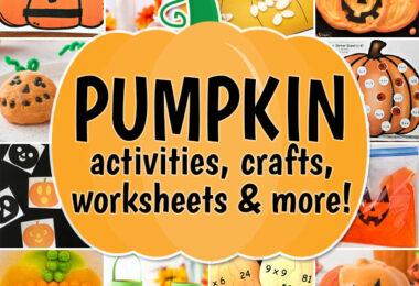 octoboer pumpkin and halloween crafts activities worksheets science experiments