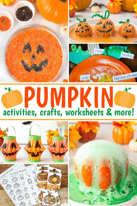 Cute pumpkin crafts, fun October activities,  and creative halloween ideas too. Plus lots of worksheets, games, and science experiments!