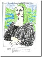 Famous art from Louvre in France - Mona Lisa