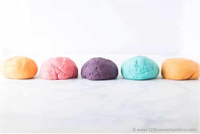 wonderful smelling and colorful kool aid playdough recipe