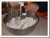 Cutting Crisco into flour