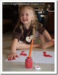 Minnie loved making her handprint
