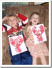 Kids were so proud of their Handprint Lobsters