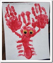 Hand & Foot Lobster Craft