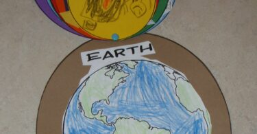Earth Day activity for kids to understand how they fit into planet Earth