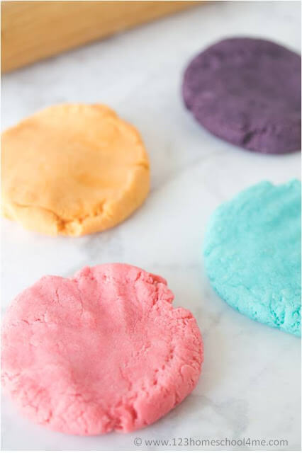 easy to make homemade playdough recipe