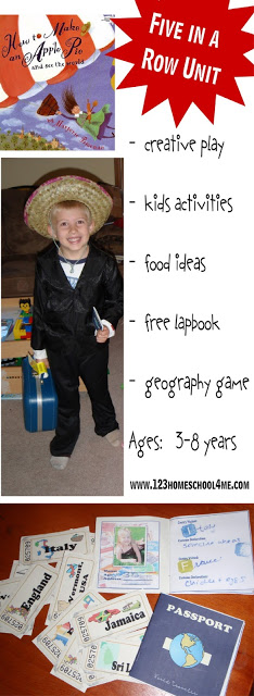 How to Make an Apple Pie and See the World - Five in a Row Unit #preschool #kindergarten
