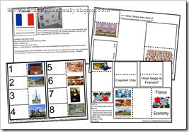 Click to download FREE FRANCE lapbook from www.livinglifeintentionally.blogspot.com