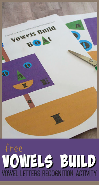 FREE Vowels Activity - make learning which alphabet letters are vowel letters with this fun vowels build recognition activity for prek, kindergarten, first grade that makes learning FUN #vowels #literacy