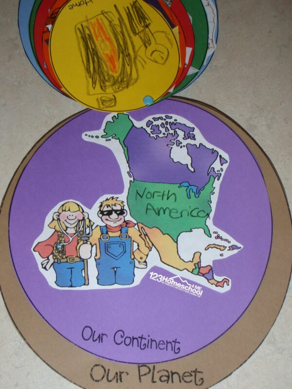 Free social studies activity for homeschooling kindergarten