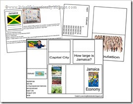 Click to download FREE JAMAICA lapbook from www.livinglifeintentionally.blogspot.com