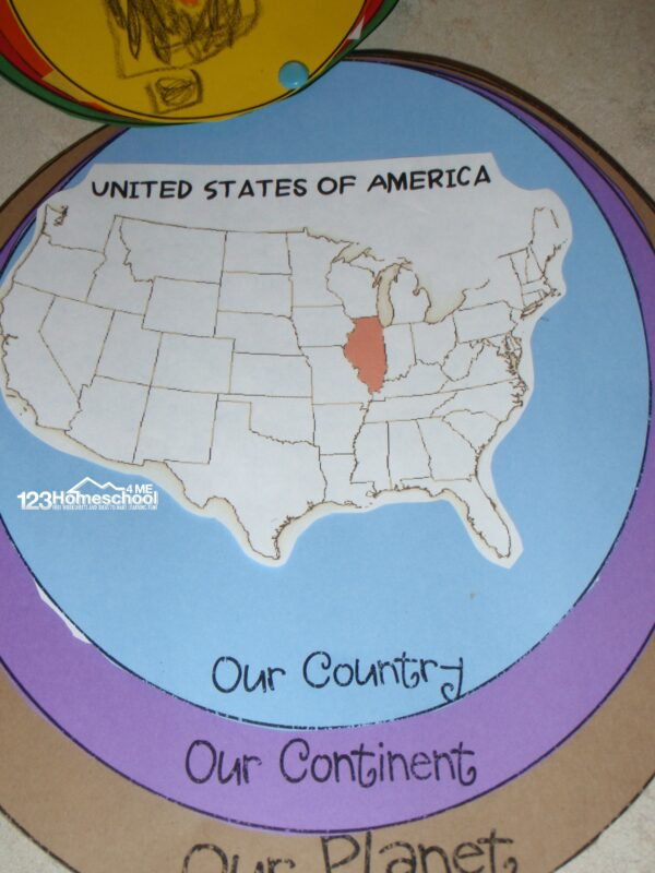 Help kids understand where they live on a map
