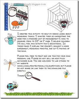 Measuring Bugs FREE PRINTABLE from www.livinglifeintentionally.blogspot.com