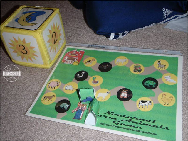 Nocturnal Animals Game - free printable science game for kids
