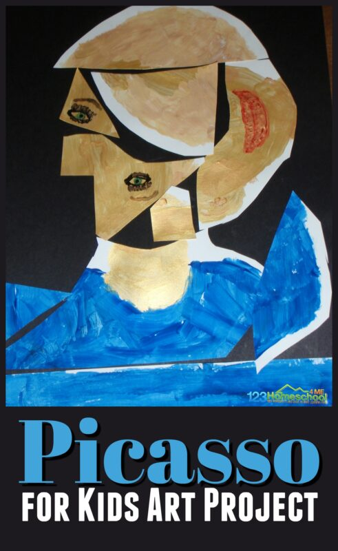 Super cute and clever Picasso for kids activities and art project. Plus lots of other clever art projects and free printables for learning about famous artists #artprojectsforkids #picasso #famousartists