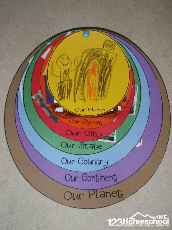 Where do I live Printable activity for kindergartners