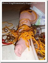 toddler pasta sensory acitity