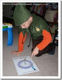 Telling Time with Peter Pan & Friends - free game