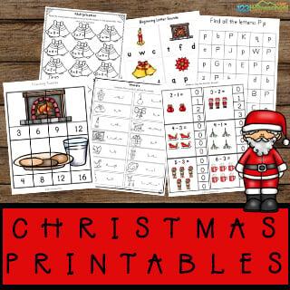 Christmas Worksheets for preschoolers and kindergarten