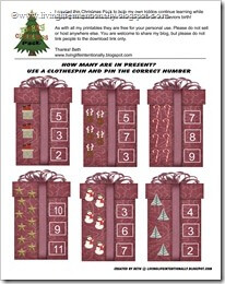 How many in the Present free printable