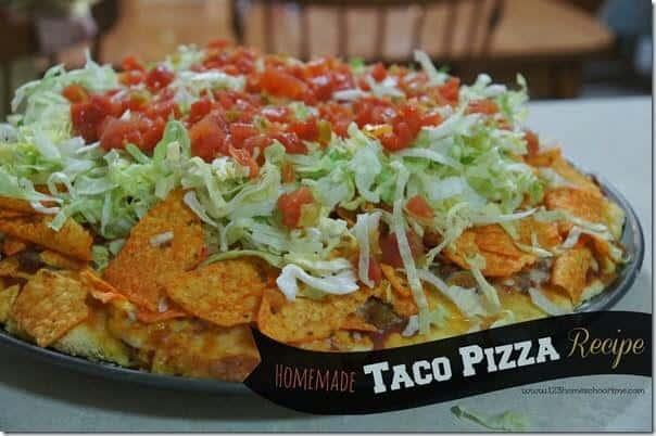 Easy Homemade Taco Pizza Recipe