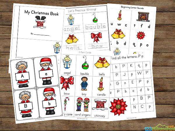 FREE Christmas Worksheets for preschoolers and kindergartners