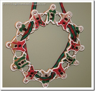Gingerbread men Wreath Craft for Kids