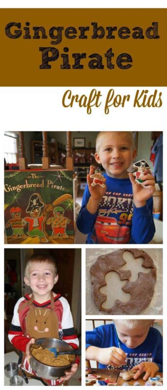 If you are looking for a fun Christmas craft for kids to celebrate the holiday season in December, you will love this super cute Gingerbread Pirates project! The pirate gingerbread man is from one of our favorite Christmas picture book and makes a fun gingerbread craft for toddler, preschool, pre-k, kindergarten, first grade, and 2nd grade students. TheCinnamon Christmas Ornaments recipe is super easy to make, smells amazing, and makes really cute homemade ornaments for kids to make!