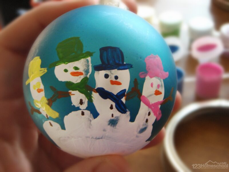 snowman handprint ornament
