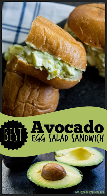 BEST Avocado Egg Salad Sandwich - this healthy makeover of a classic sandwich is not only creamy and so delicious, it is makes it super healthy. This is a yummy recipe perfect for lunches or eating healthy #avocado #eggsalad #recipes