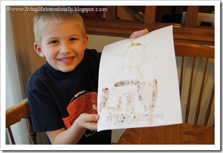 Spice Painting for Kids homeschool history