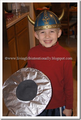 Vikings Costumes for homeschoolers