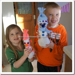 Sock Snowman Craft for Kids