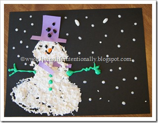 Egg Shell Snowman Craft for Kids