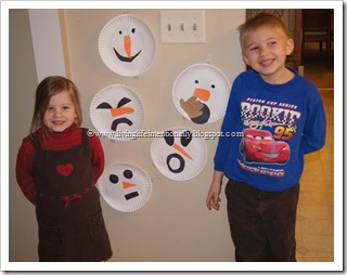 Teaching Preschoolers about Emotions with snowmen