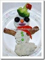 Mashed Potato Snowman Dinner