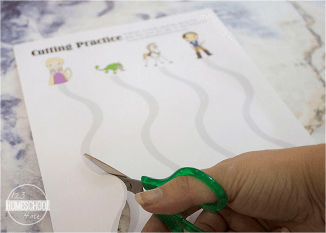 Disney princess Rapunzel cutting worksheet