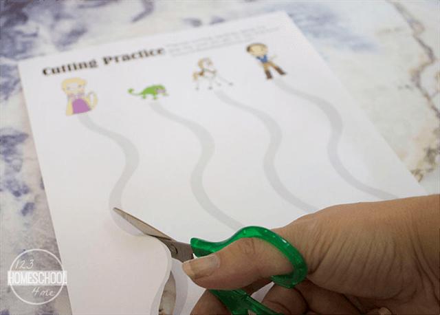 Disney princess Rapunzel cutting worksheet