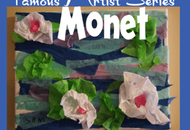 Tissue Paper Monet Art Project